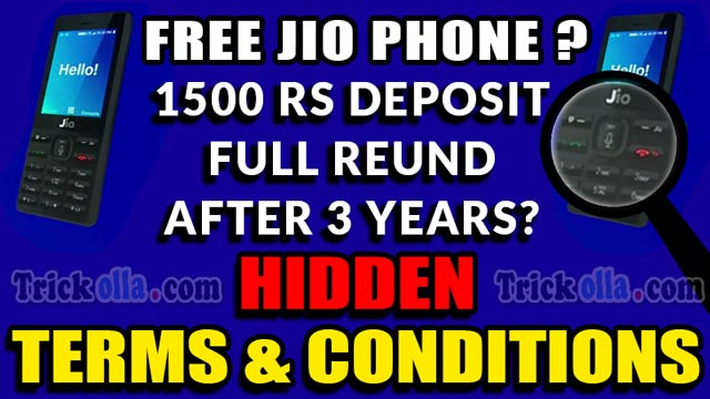 JioPhone terms and conditions