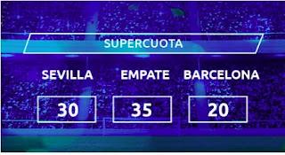 Mondobets supercuota Sevilla vs Barcelona 27-2-2021