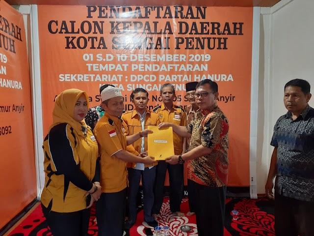 Relawan dan Tim Ahmadi Zubir Padati DPCD Hanura Sungai Penuh