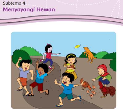 kelas 3 tema 2 Subtema 4 Menyayangi Hewan www.simplenews.me