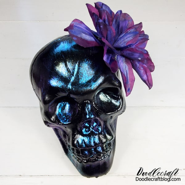 Just like that, this skull is ready to party!