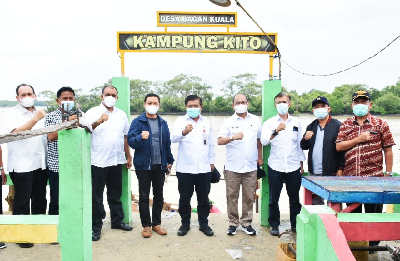 Masuk dalam Lokpri, BNPP RI Kunjungi Desa Bagan Kuala Kecamatan Tanjung Beringin Kabupaten Sergai