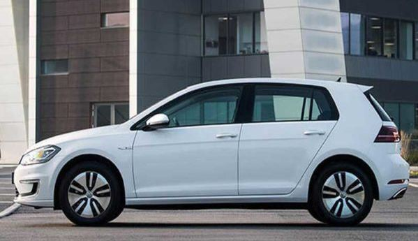 volkswagen e-golf dsg 2019 side view