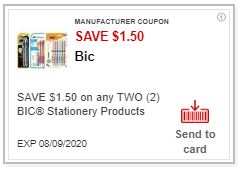 LOAD $1.50/$5.00 purchase of any BIC items