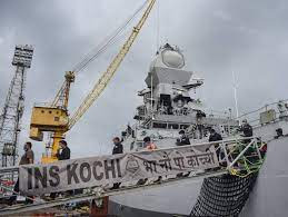 184 rescued oil workers were returned to shore on board the INS 'Kochi' and the INS 'Kolkata'