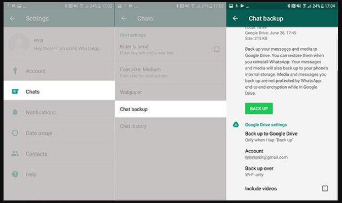 Apliksi MOD WhatsApp Android - BackUp
