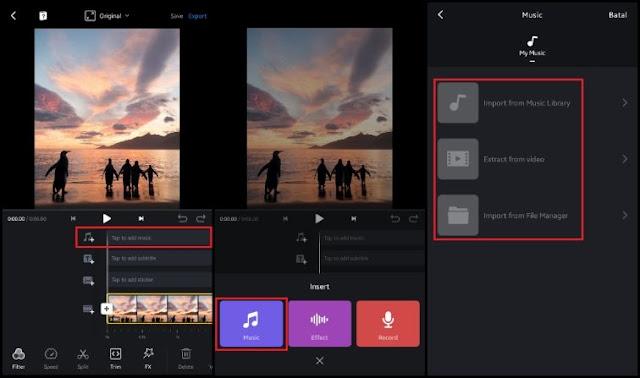 Cara Menambahkan Musik ke Gambar - VN