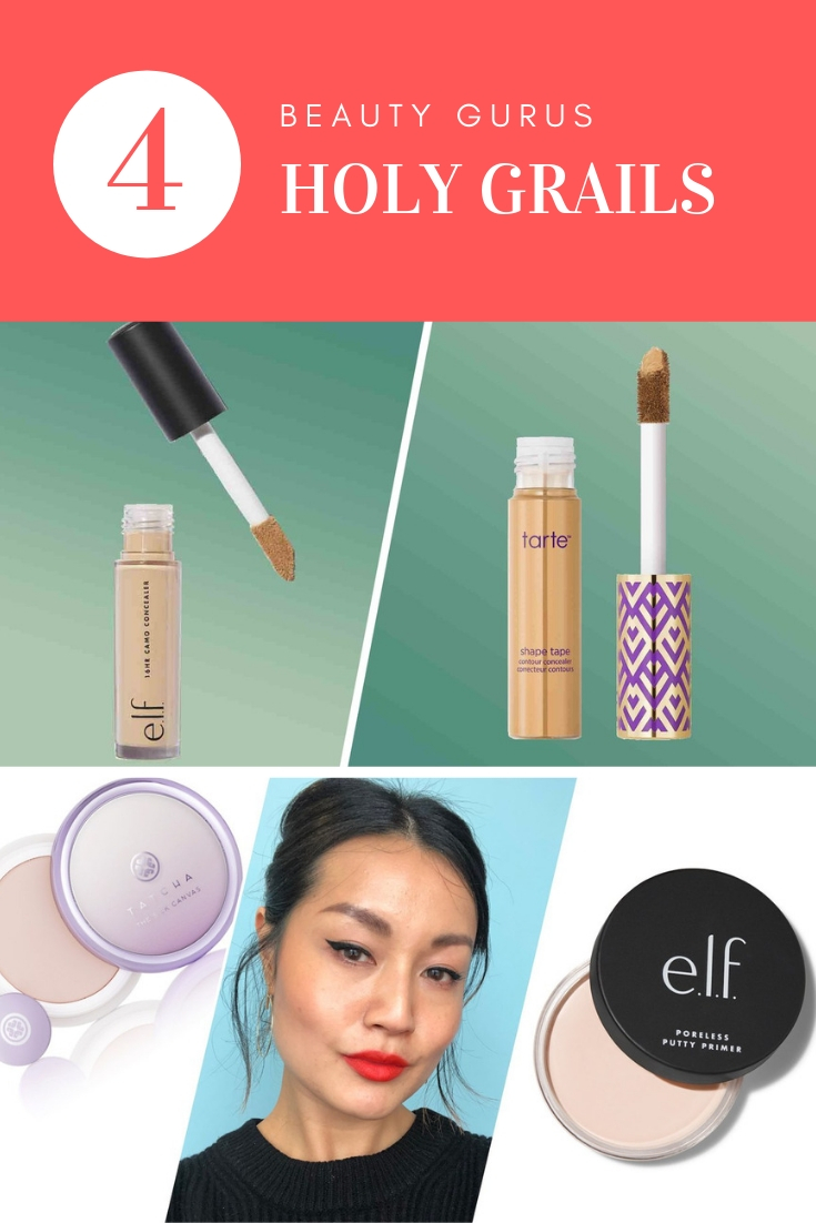 HOLY GRAIL COVER ELF, TARTE MAKEUP, TATCHA AND ELF