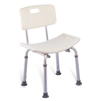 Height Adjustable Anti-slip Shower Chair