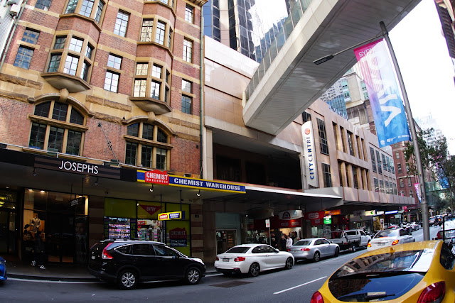Abandoned City Centre monorail station exterior (Sydney Monorail)