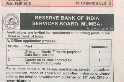03 Assistant Librarian Posts at Reseve Bank of India
