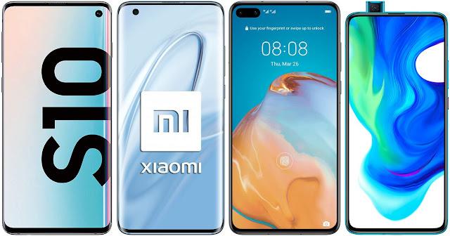 Samsung Galaxy S10 vs Xiaomi Mi 10 vs Huawei P40 vs Xiaomi Poco F2 Pro
