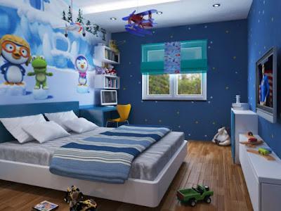 phòng ngủ cho trẻ con ở chung cư nhỏ