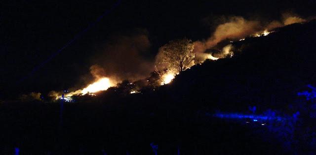 Incendio forestal Cazadores se complica y avanza rápido hacía Barranco de Guayadeque
