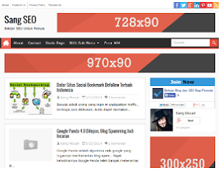 Sang SEO Blogger Template