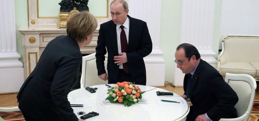 """""""Άγριο ξύλο"""" στην Α.Μέρκελ από τον Β.Πούτιν για Ουκρανία και οικονομική κρίση στην ΕΕ"""