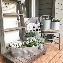 Little Farmstead Farmhouse Spring Porch