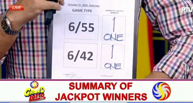 2 bettors bag PCSO lotto jackpot on October 31, 202