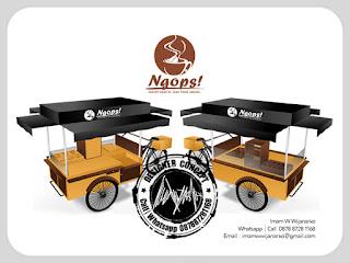 desain gerobak sepeda kopi ngops