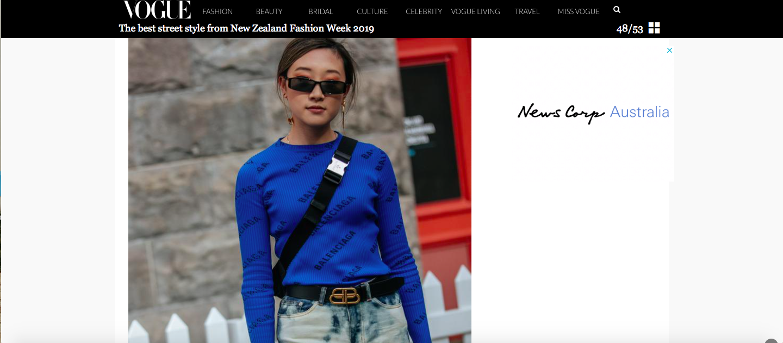 Nicole Ku | Nicrific Vogue Australia Fashion Week