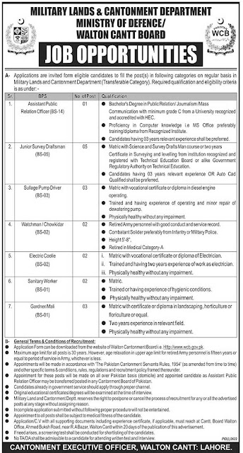 Ministry of Defence Jobs May 2019 | Latest new Vacancies