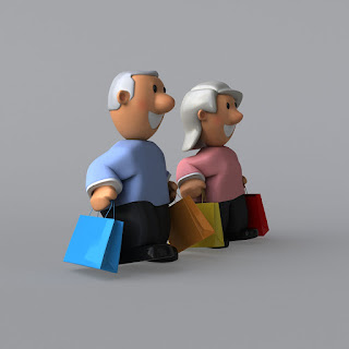 Senior Couple with shopping bags made in claymation style media free image from Pixabay Link opens in a new tab on the artists' Pixabay profile