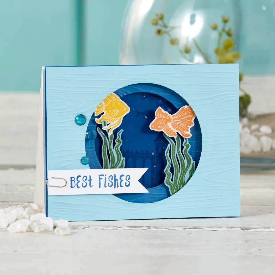 Create a fun underwater scene on a handmade card, by creating a tunnel card with nesting circle dies. Stop on by my blog to see three different tunnel cards and a full tutorial to create your own!