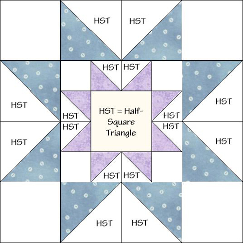 Star in a Star Quilt Block - Free Pattern