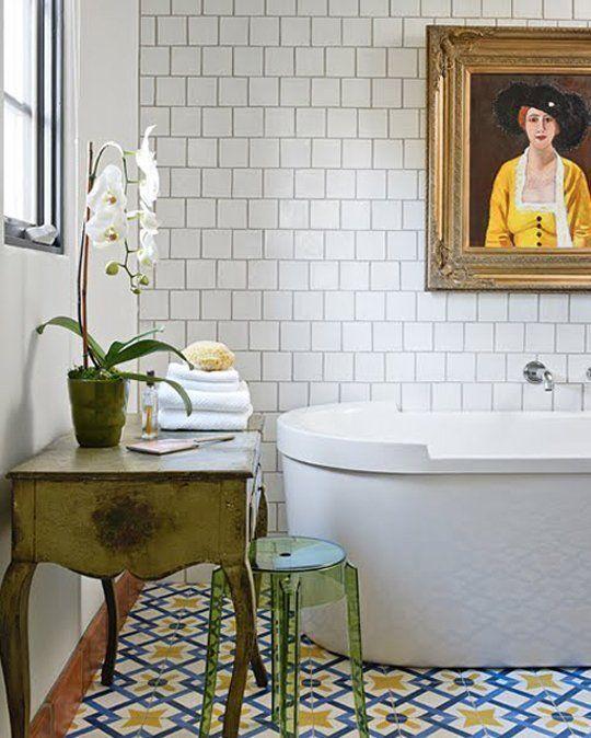 Retrato en el baño
