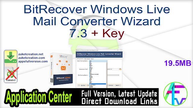 BitRecover Windows Live Mail Converter Wizard 7.3 + Key
