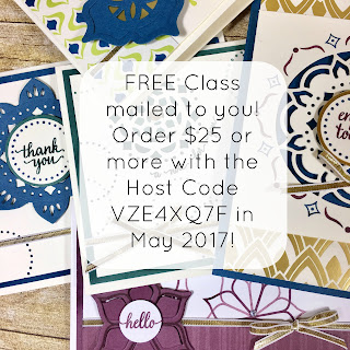 Sneak peek of the FREE Stampin' Up! class you can earn in May 2017!  Eastern Palace Bundle  #stamptherapist #stampinup #handmadeby www.stamptherapist.com
