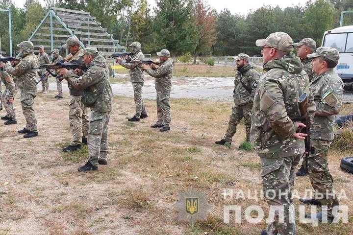 Полк «Миротворець» відпрацьовує тактику дій щодо організації пропускного режиму, а також при можливому нападі