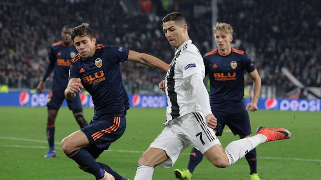 Hasil Liga Champions: Taklukkan Valencia, Juventus ke Babak 16 Besar