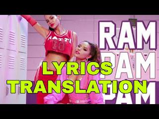 Ram Pam Pam Lyrics in English   With Translation   - Natti Natasha & Becky G