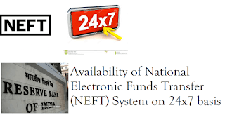 Availability of National Electronic Funds Transfer (NEFT) System on 24x7 basis