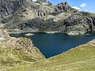 Lago Nero above Vagoglio, Italy.