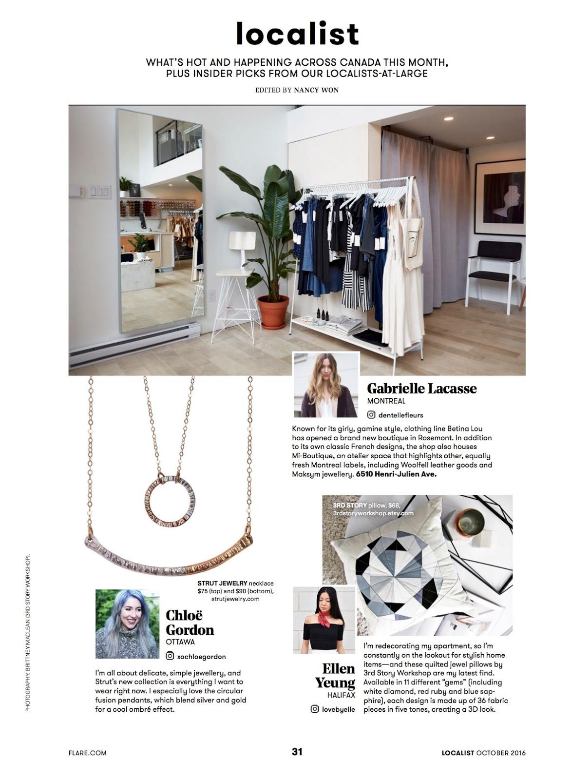 Chloe Gordon year in review 2016 FLARE magazine localist OttAWA