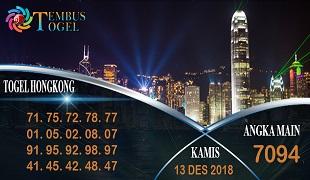 Prediksi Angka Togel Hongkong Kamis 13 Desember 2018