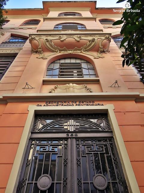 Perspectiva inferior da fachada da Funap - Vila Buarque - São Paulo