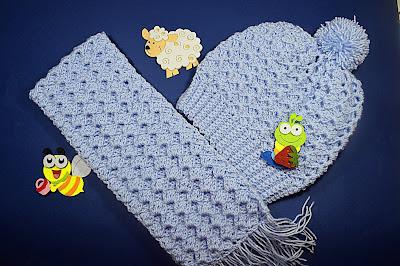 1 - Crochet Imagen Conjunto de gorro y bufanda a crochet y ganchillo por Majovel Crochet