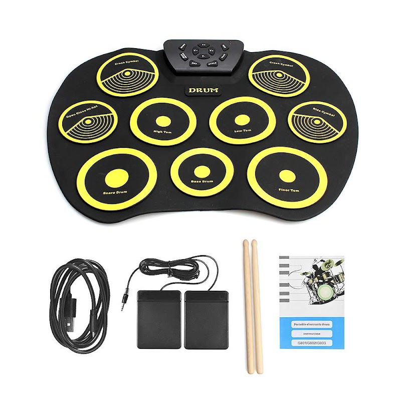 AMAZON -  50%off Portable Electric Drum Set Till July 31st