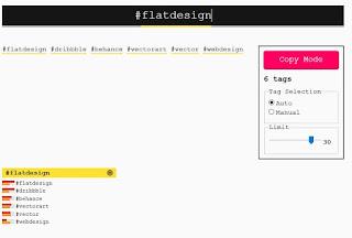 cari hastag populer dengan dispaly purposes web