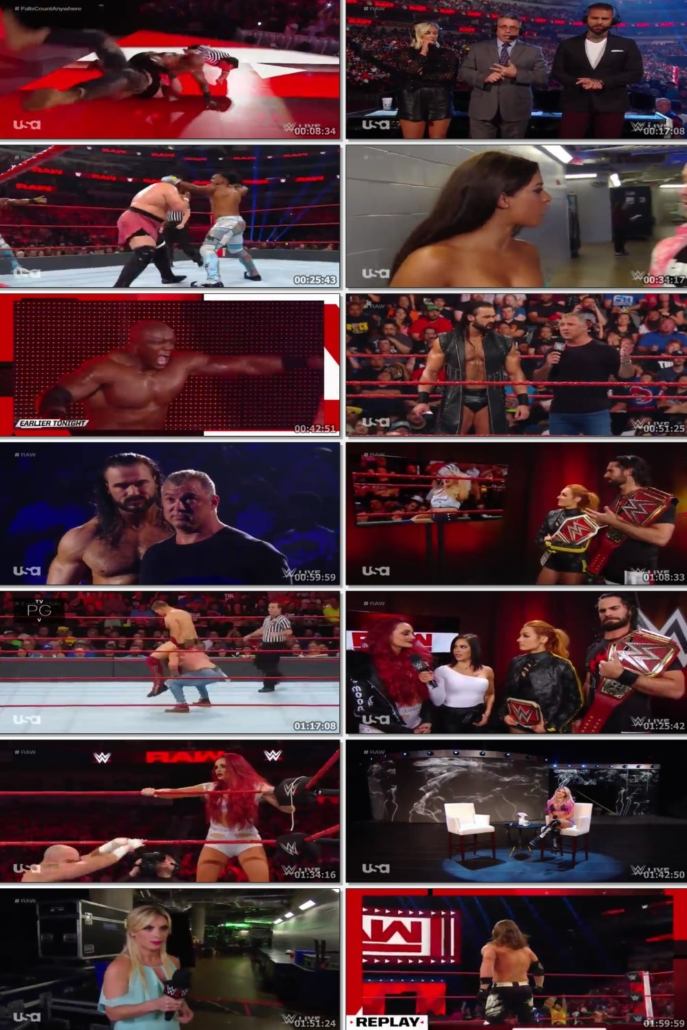 Screen Shot Of Wrestling TV Show WWE Monday Night Raw 1st July Watch Online Free Download