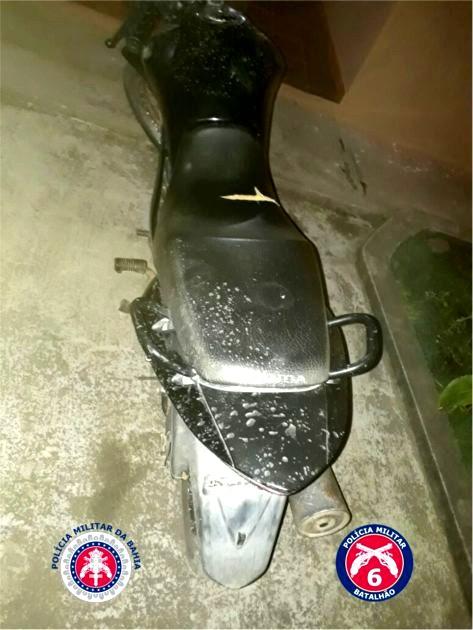 2ª COMPANHIA DA POLICIA MILITAR DE ITIÚBA, RECUPERARAM MOTO ROUBADA EM NORDESTINA