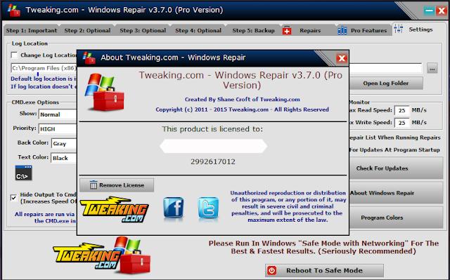 tweaking.com - windows repair pro serial free download Full