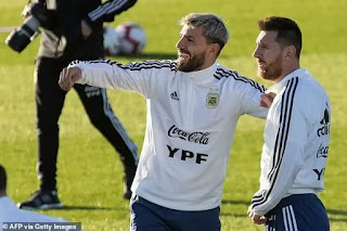 Aguero's Instagram activity may have hinted at Messi's move to Manchester City
