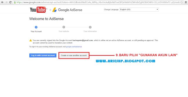 Daftar Akun Adsense Youtube 7 Arieshp