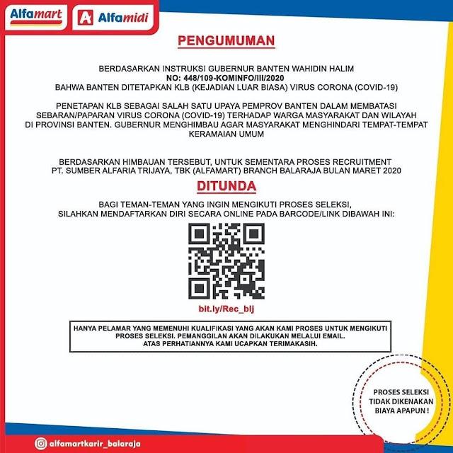 Lowongan Kerja Alfamart Cabang Balaraja Bulan April 2020 Serangid