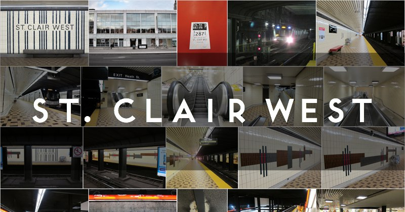 Photo gallery of St. Clair West subway station