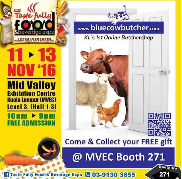 Even my favourite online butcher, Blue Cow Cafe has a booth there this year